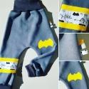 """Jegging évolutif  _ Molleton épais, gris foncé """" Mon cher Batman """""""