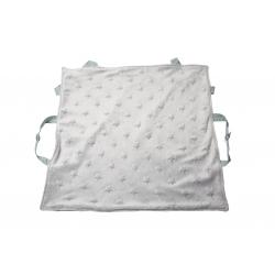 Couverture de portage grise doublée blanche
