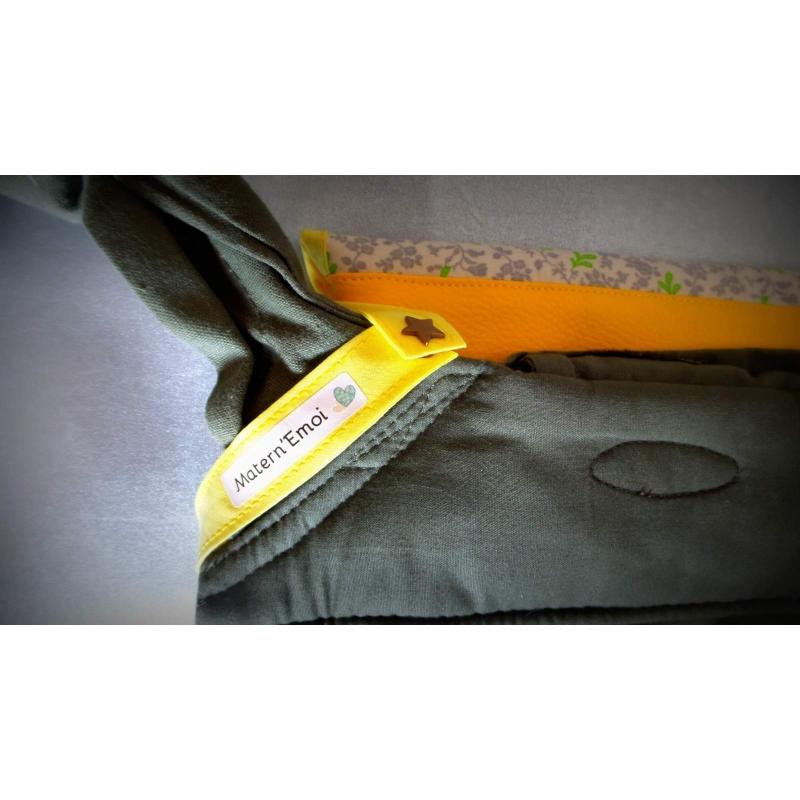 accessoire pour porte b b superbe sac liberty jaune pour. Black Bedroom Furniture Sets. Home Design Ideas