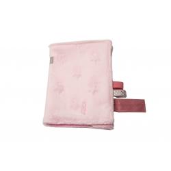 """Accessoires pour porte bébé: Doudou rose """"L'hiver sera doux"""""""
