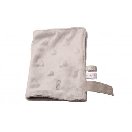 """Accessoires pour porte bébé: Doudou gris """"L'hiver sera doux"""""""
