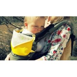 """Sac pour porte-bébé jaune """"Envie de liberty"""""""
