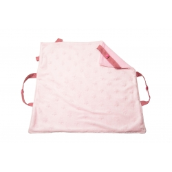 Couverture de portage rose lanières vieux rose