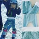 """Pantalon évolutif de portage _ Molleton épais, bleu clair""""Douceur hivernale"""""""