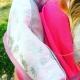 Ambiance Tropical _ Sac de portage rose et ananas argentés