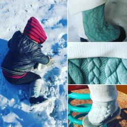 """Guêtres/jambières évolutives bleu """"Douceur hivernale"""""""