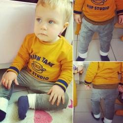 """Pantalon évolutif de portage _ Velours épais, vert kaki """"Rétro chic"""""""