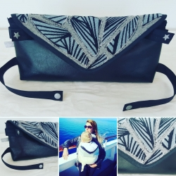 Sac coupon Yaro Magnetic  rabat gris pailleté