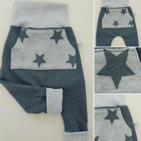 "Sarouel bébé_ ""Petites étoiles brillantes"""